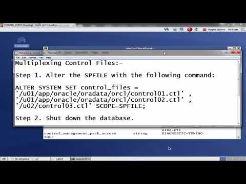 Oracle DB - Multiplexing Control Files