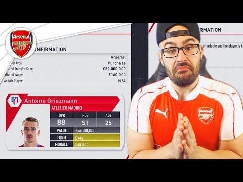 $82,000,000 FOR GRIEZMANN! - REBUILDING ARSENAL FIFA 17 CAREER MODE #01
