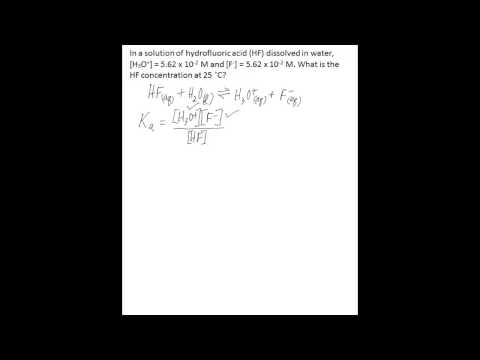 Calculate one concentration using Ka