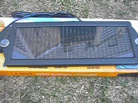 harbor freight solar battery charger
