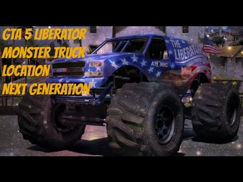 GTA 5-Liberator Monster Truck Location-Story Mode-Ps4