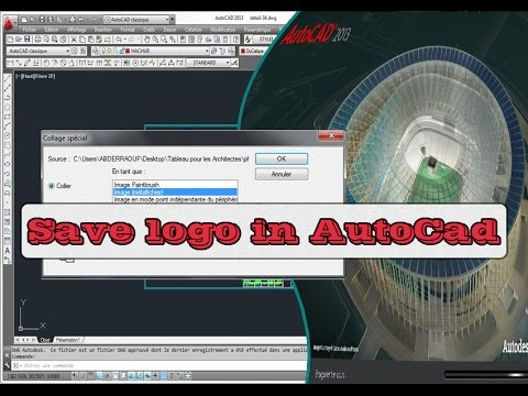 How to Save a logo or photo in AutoCad File/ Autocad 2013