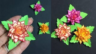 How to make easy flower with colored paper making paper flowers step how to make small paper flower making paper flowers step by step diy paper crafts mightylinksfo