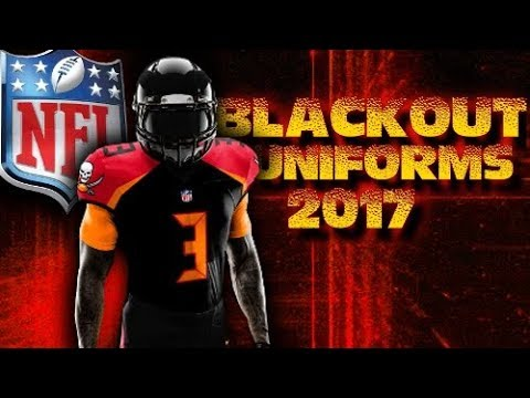 NEW NFL BLACKOUT UNIFORMS FOR ALL 32 TEAMS 2017