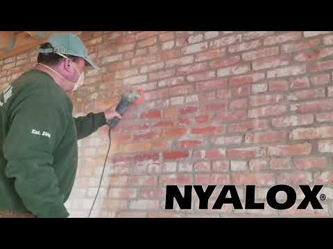 Nyalox for cleaning old bricks