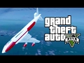 Huge Plane Falling into The Deep Ocean GTA 5