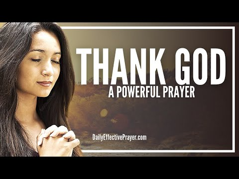 Prayer For Thanking God - Prayer For Thanksgiving