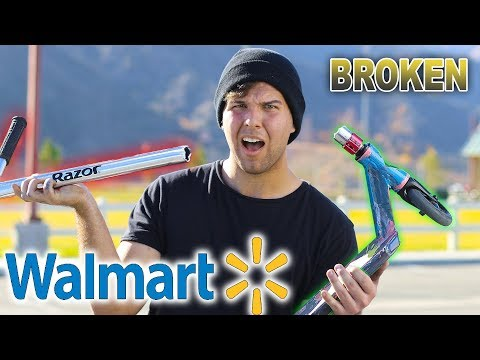 WALMART SCOOTER BARS VS SCOOTER TRICKS!