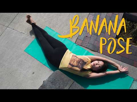Banana Pose stretches and balances superficial and deep back muscles