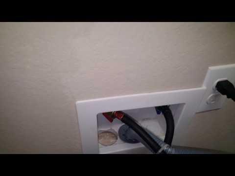 Oatey Washing machine box, wrong knock-out hole fix.