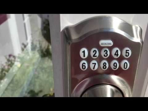 How to program your keypad deadbolt schlage lock