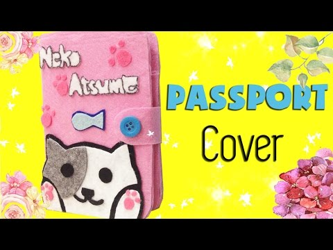 DIY Neko Atsume Notebook Cover|  How to make ねこあつめ Passport Cover