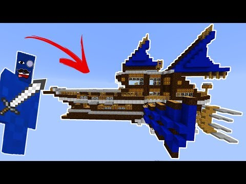AIRSHIP CLAY SOLDIER BATTLE! (Working Ship) • Minecraft Clay Soldiers Mod!