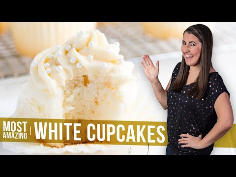 How to Make The Most Amazing White Cupcakes | The Stay At Home Chef