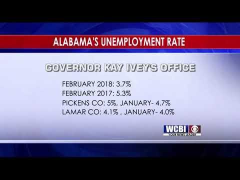 Mississippi & Alabama Unemployment Rates - 3/23/18