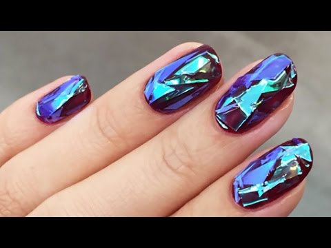 Shattered glass nail tutorial