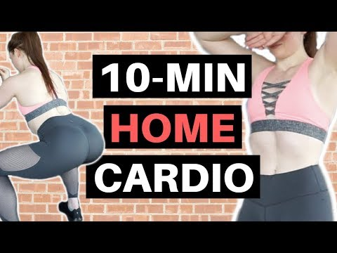 At Home Full Body Cardio Workout (10 MINUTE - FOLLOW ALONG!!)