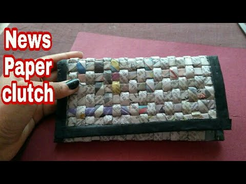 Newspaper clutch | Newspaper hand bag | Women's handbags I How to make a newspaper purse | HMA##065