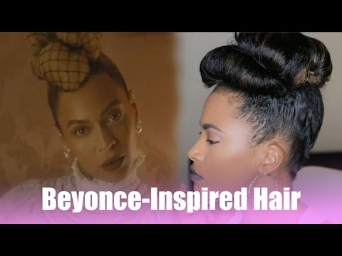 Beyonce Formation Inspired Hair: Natural Up-Do | Jasmine Defined
