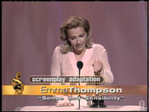 Emma Thompson winning an Oscar® for