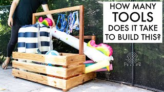 Building a Pool Toy Organizer - How many tools do you think it takes to build it?