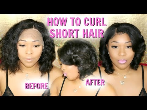 Short Hair Tutorial: How To Curl & Style Short Hair | Wavy Bob Lace Front Wig Transformation RpgHair