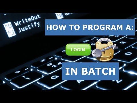 How to Program: A Batch File Login Program