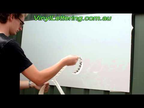 Vinyl Lettering Application Peel & Stick method