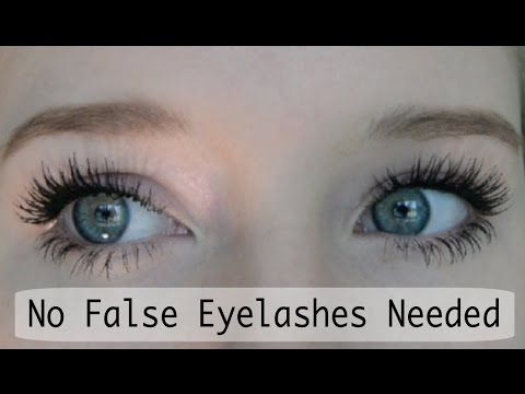 False Eyelash Effect Using Just Mascara