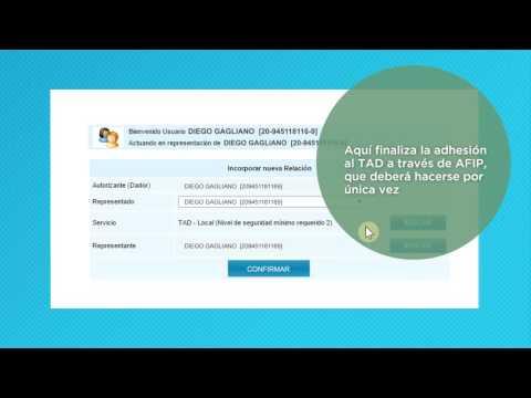 Tutorial: ¿Cómo adherir servico TAD en la web de AFIP?