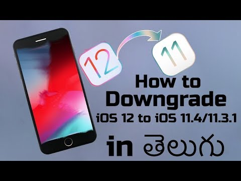 how to Downgrade iOS 12 to iOS 11.4 - ANY iPhone iPad & iPod touch in Telugu.