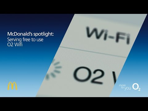 McDonald's - Serving free to use O2 Wifi