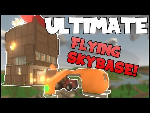 The ULTIMATE FLYING SKYBASE! | Unturned Skycrane Base Design!
