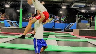 WWE MOVES AT THE TRAMPOLINE PARK 3