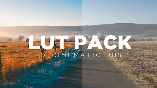 Free Cinematic LUTs Pack