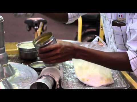 Steamed Rice flour cake - arisi Puttu - Kerala Puttu - Indian street food