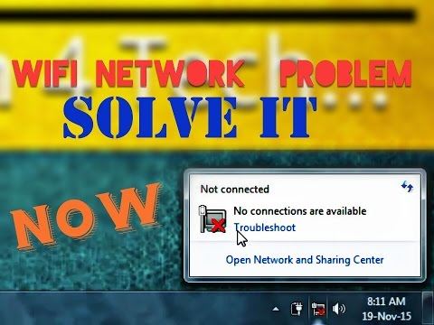 How to solve NO WIFI NETWORK || Wifi Network Problems || Window 7