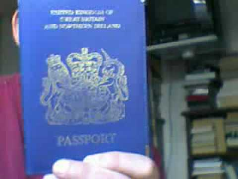 Blue Passport Holder: