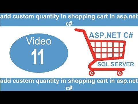 add custom quantity in shopping cart in asp net c#