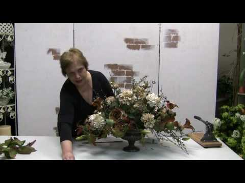 How To Make A Traditional Floral Centerpiece Arrangement With Silk Flowers - Part 3