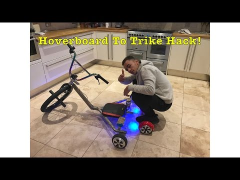 HOVERBIKE HOW TO MAKE A ELECTRIC TRIKE FROM A HOVERBOARD *WORLDS FIRST* 🤖