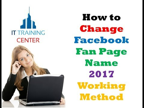 How to Change Facebook Fan Page Name 2017 Working Method