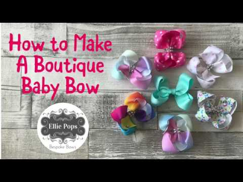 Tutorial | How to Make a Baby Boutique Bow - 2