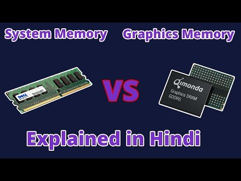 System Memory vs Graphics Memory Explained in Hindi