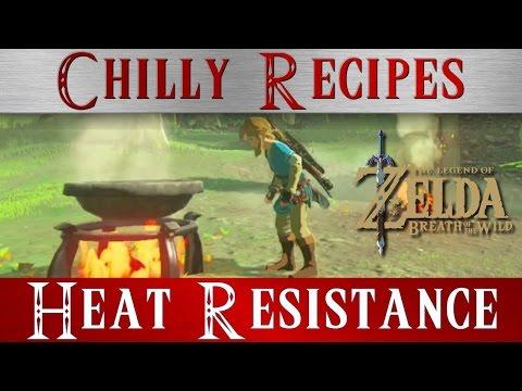 Zelda Breath of the Wild **Heat Resistance Boost Recipes Meals ** BOTW