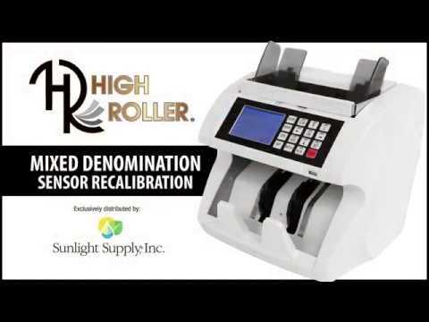 High Roller Mixed Denomination Sensor Recalibration
