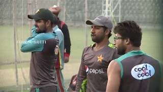 Pakistan Cricket team training session at Gaddafi Stadium in Lahore on Friday live