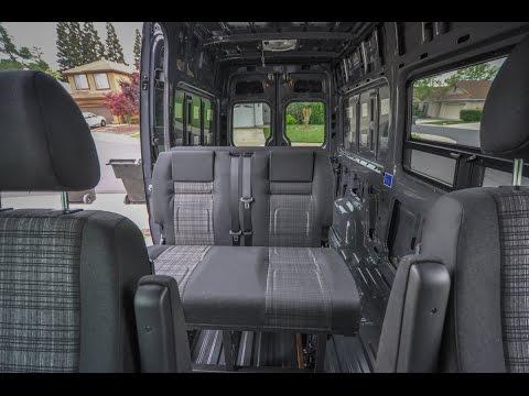 Rock n roll (RIB) seat/bed install in a Mercedes Sprinter camper van