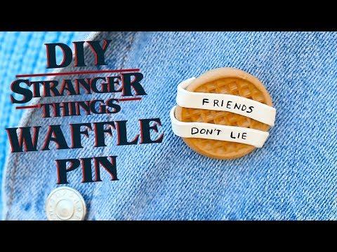 DIY Stranger Things Waffle Pin