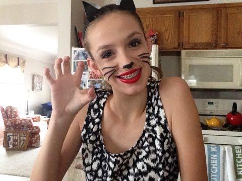 DIY Cat Halloween costume, makeup and hair!:)